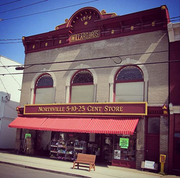 Northville's Bridge and Main Streets  iconic Northville Five and Dime memories of a time long ago, fun attraction family Sacandaga Adirondack